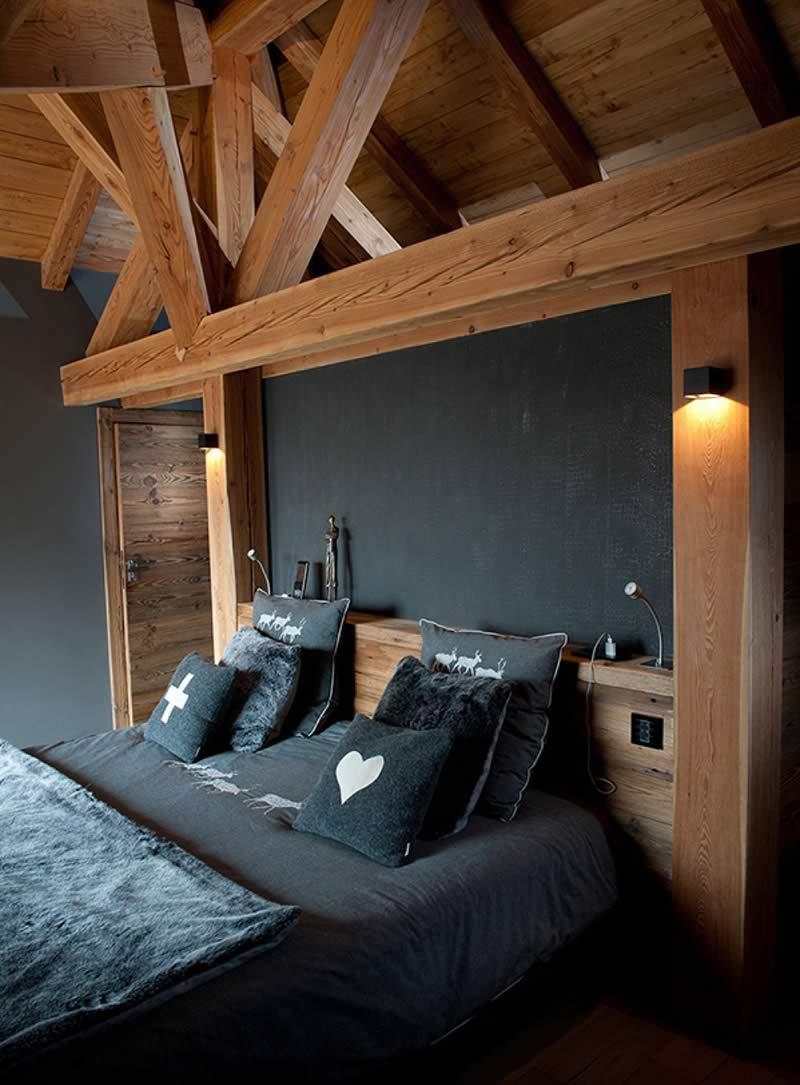 Intérieur chalet bois à Megève - Chalets Bayrou
