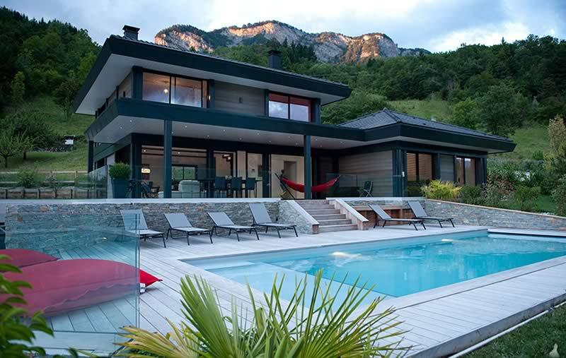 Maison ossature bois contemporaine Chalets Bayrou